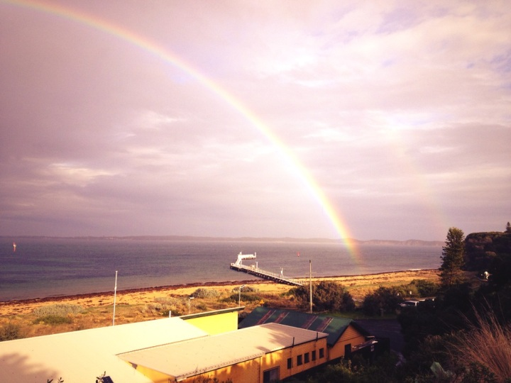 Oops! A double rainbow!